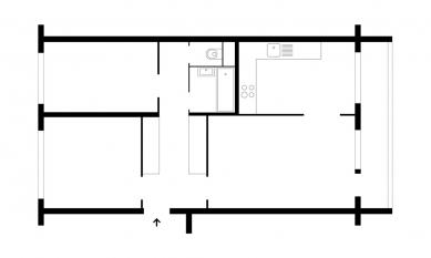 Betonový byt - Půdorys - původní stav