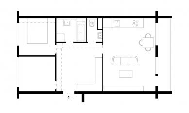 Betonový byt - Půdorys - současný stav