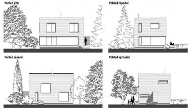 Pasivní dům v Černošicích - Pohledy