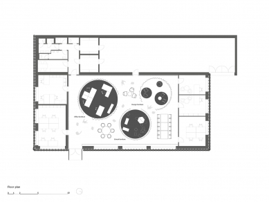 Showroom společnosti MY DVA - brněnská pobočka - Půdorys - foto: Chybik + Kristof Architects & Urban Designers