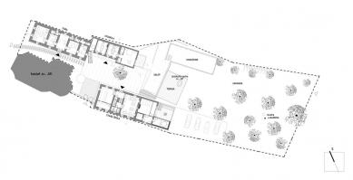 Areál Café Fara - Situace
