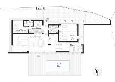 White Villa - Půdorys 1NP