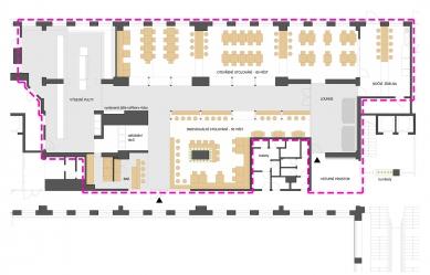 Airport Business Centre - kantýna - Půdorys