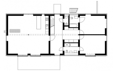 Rodinný dům v Konárovicích - Půdorys přízemí - foto: © Markéta Cajthamlová, Architektonická projekční kancelář