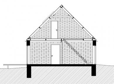 Rodinný dům v Konárovicích - Příčný řez - foto: © Markéta Cajthamlová, Architektonická projekční kancelář