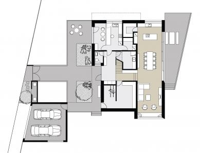 Rodinný dům s provozovnou - Půdorys 1NP