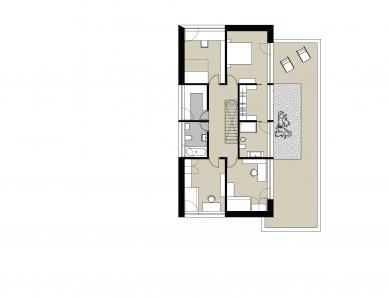 Rodinný dům s provozovnou - Půdorys 2NP