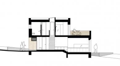 Rodinný dům s provozovnou - Řez