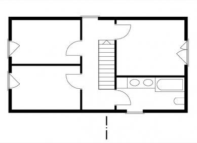 Rodinný dům v Mořině - Půdorys patra - foto: ARCHTEAM