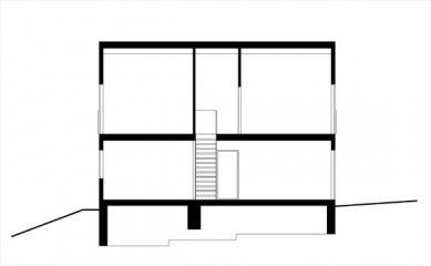 Rodinný dům v Mořině - Podélný řez - foto: ARCHTEAM