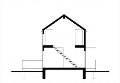 Rodinný dům v Mořině - Příčný řez - foto: ARCHTEAM
