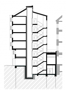 Bytový dům Cihlářská 6 - Řez