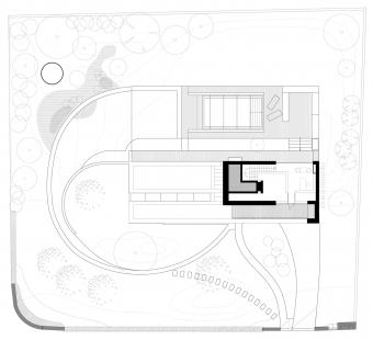 Rodinný dům poblíž Berounky - Půdorys 3NP