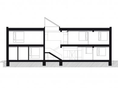 Administrativní budova Rapos - Řez A-A' - foto: New Work