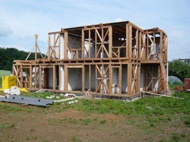Rodinný dům v Olomučanech - Z průběhu realizace - foto: New Work