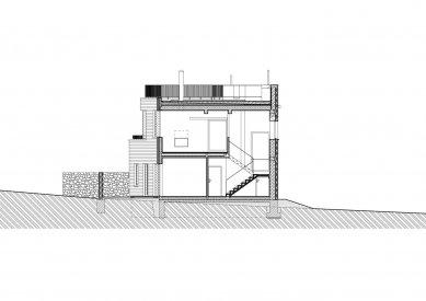 Rodinný dům v Olomučanech - Řez B-B' - foto: New Work
