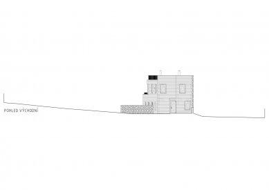 Rodinný dům v Olomučanech - Východní pohled - foto: New Work
