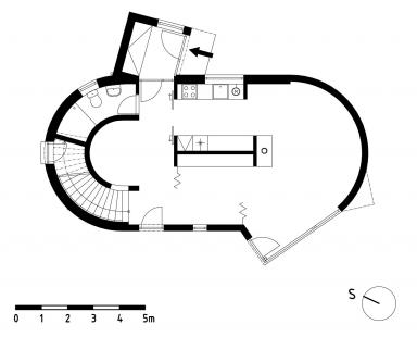 Rodinný dům Pulec II - Půdorys přízemí - foto: New Work