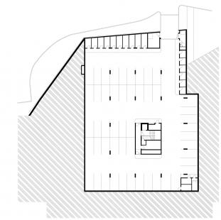 Bytový dům Bulovka  - Půdorys 1PP