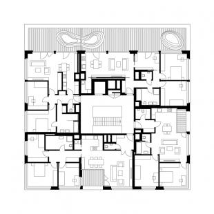Bytový dům Bulovka  - Půdorys 7NP