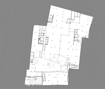 Obchodní dům Tyrol - Půdorys suterénu - foto: David Chipperfield Architects