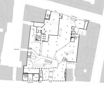 Obchodní dům Tyrol - Půdorys přízemí - foto: David Chipperfield Architects