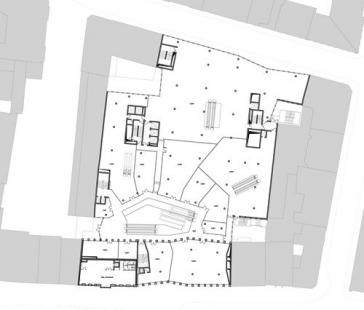 Obchodní dům Tyrol - Půdorys 1.np - foto: David Chipperfield Architects
