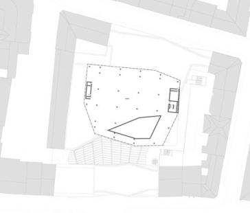 Obchodní dům Tyrol - Půdorys 5.np - foto: David Chipperfield Architects