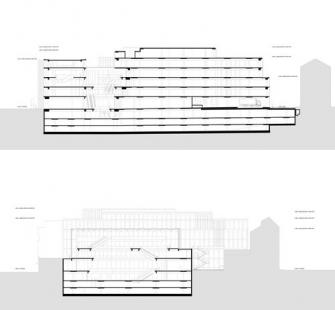 Obchodní dům Tyrol - Řezy - foto: David Chipperfield Architects