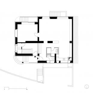 Reconstruction of family house under Kraví hora - Půdorys přízemí - foto: Urban Čelikovský Architekti