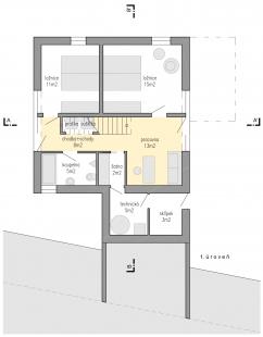 Family house Libcice - Půdorys 1NP