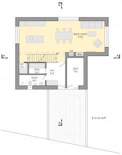 Family house Libcice - Půdorys 2NP
