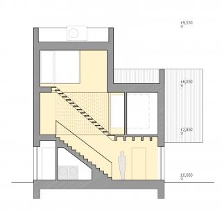 Family house Libcice - Řez AA