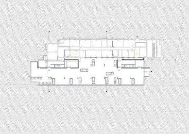 Provozní budova IVB - Půdorys suterénu - foto: lorenz ateliers