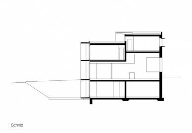 Raiffeisenbank Satteins - Řez - foto: Gohm & Hiessberger Architekten