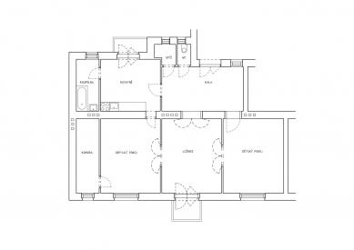 Rekonstrukce bytu v ČernýchPolích - Původní stav - foto: ateliér SENAA