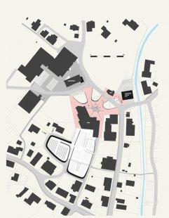 Rozšíření hřbitova ve Fussachu - Situace - foto: Drexel Architektur