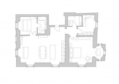 Bydlení v klášteře - Půdorys  - foto: ti architekti