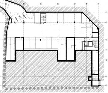 Parkovací dům Domini Park  - Půdorys 2PP