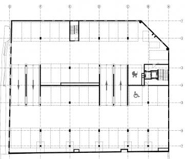 Parkovací dům Domini Park  - Půdorys typického podlaží