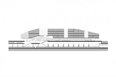 Hlavní vlakové nádraží Delft - Podélný řez - foto: Mecanoo