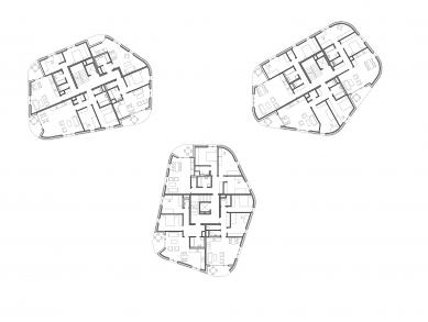 Obytný soubor na Vackově – etapa F - Půdorys 3NP