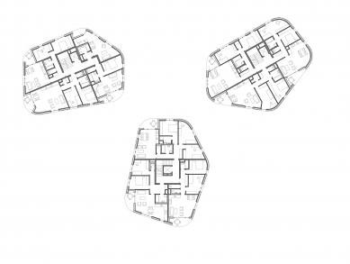 Obytný soubor na Vackově – etapa F - Půdorys 4NP