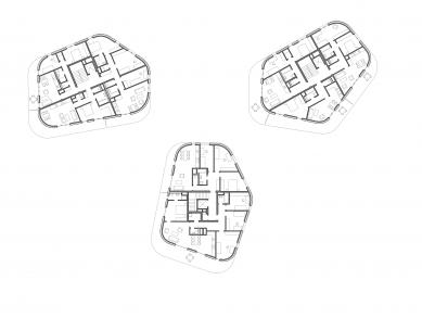 Obytný soubor na Vackově – etapa F - Půdorys 5NP