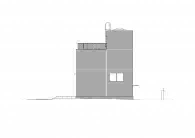 Rodinný dům Čistovická - Východní pohled - foto: Aoc