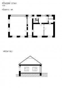 Přestavba obecního domu Lukoveček - Původní stav - foto: studio New Work
