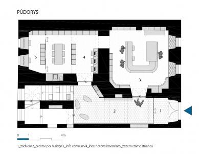 KIS - Kulturní a informační středisko - Půdorys - foto: BLOK_architekti