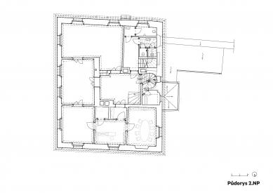 Rekonstrukce Werichovy vily - Půdorys 2.np - foto: Architektonická kancelář TaK