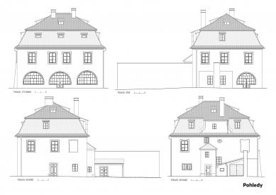 Rekonstrukce Werichovy vily - Pohledy - foto: Architektonická kancelář TaK