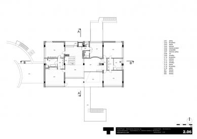 Rekonstrukce Volmanovy vily - Půdorysy patra - foto: Architektonická kancelář TaK